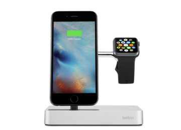 Slick charge dock for iPhone and Apple Watch from Belkin