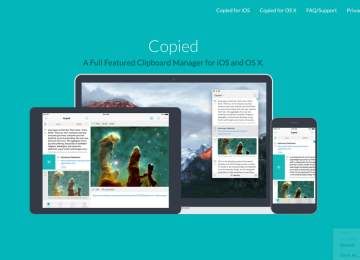 Easily save copied text, URLs, images with the Copied app