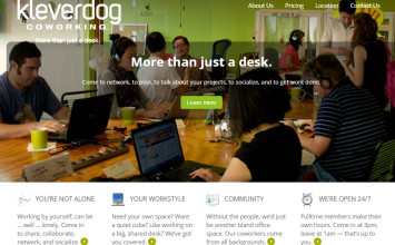 KleverDog:  A campus like co-working environment that is stimulating at affordable prices