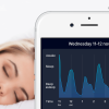 an iphone screen showing a chart analysing your sleep made by Sleep Cycle the intelligent alarm clock app