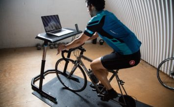 Multi-task while getting in a great workout with the Wahoo bike desk