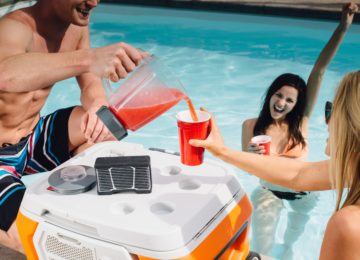 The COOLEST is a portable party disguised as a cooler, bringing blended drinks and music to any outdoor occasion