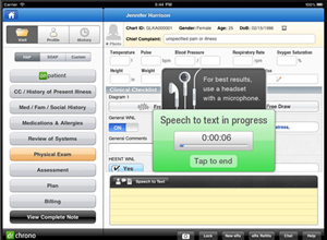 Drchrono offers precise medical speech-to-text technology