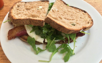 Huckleberry Cafe offers the most delicious breakfast sandwhich in Santa Monica