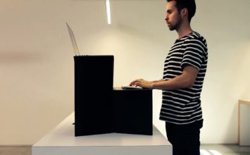 Oristand is a $25 standing desk made of cardboard