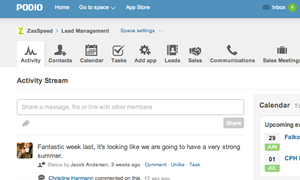 Get work done with your co-workers and clients on Podio